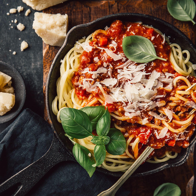 Pasta, Spaghetti-Gericht